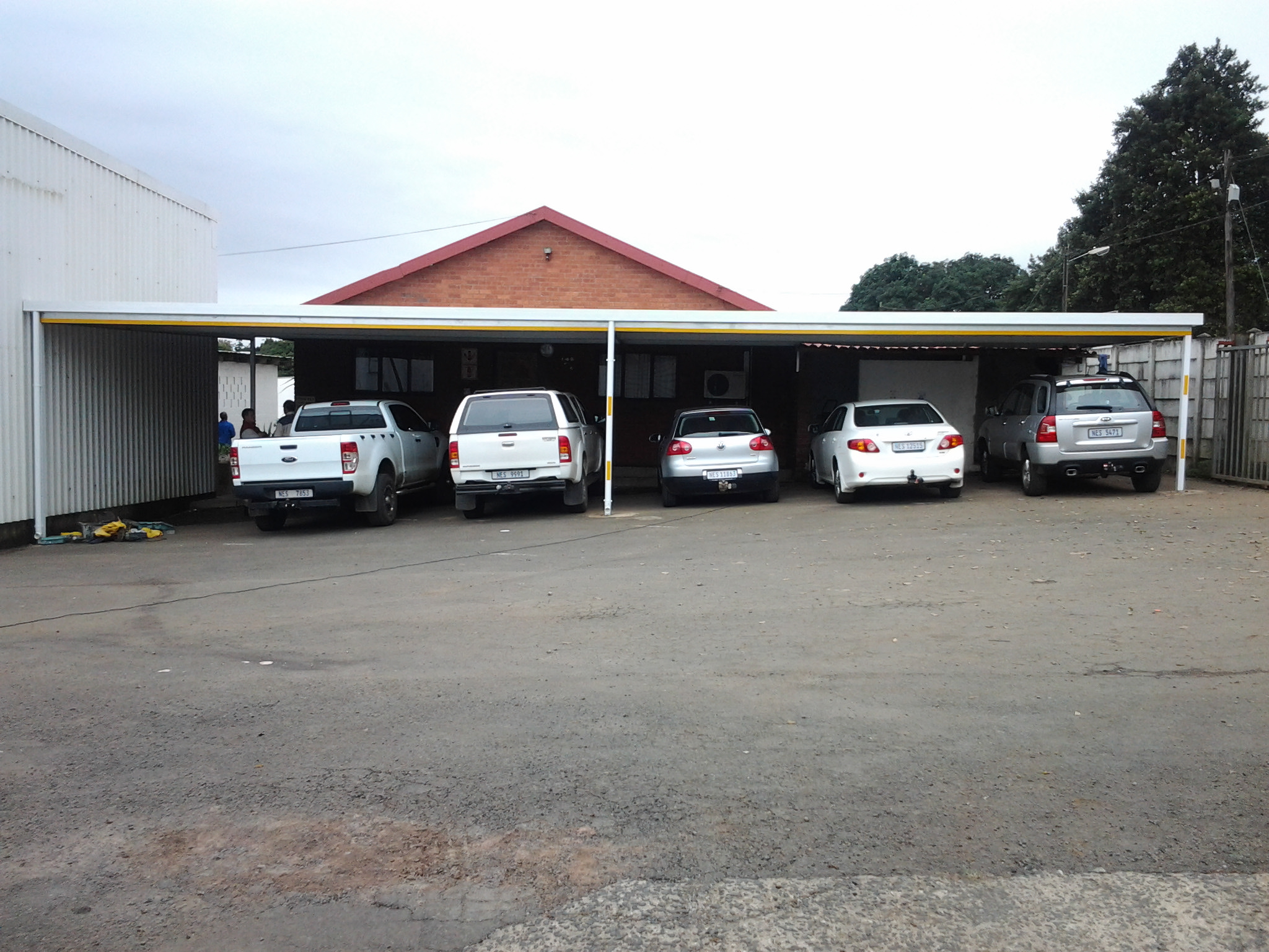 Double Carport Against A Wall 2 Cool Awnings Empangeni